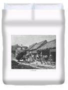 Canada: Farming, 1883 Duvet Cover