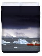 Canadian Coastguard Icebreaker Visiting Duvet Cover