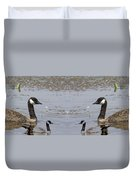 Canadian Goose Symmetry Duvet Cover