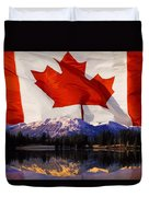 Canadian Mountains Duvet Cover