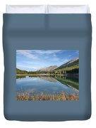Canadian Rockies Rocky Mountain Lake Duvet Cover