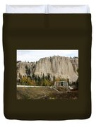Canadian Rocky Mountains Hoodoos Duvet Cover