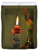 Candle And Colored Glass Duvet Cover