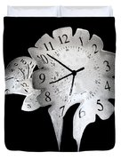 Candle Clock Duvet Cover