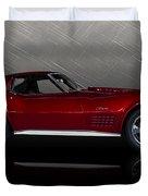Candy Apple Corvette Duvet Cover