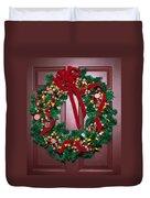 Candy Christmas Wreath Duvet Cover