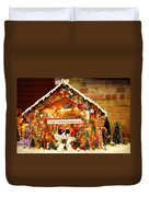 Candy Gingerbread House Duvet Cover