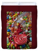 Candy Jar Spilling Candy Duvet Cover