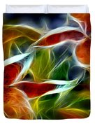 Candy Lily Fractal  Duvet Cover