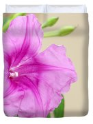 Candy Pink Morning Glory Flower Duvet Cover