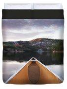 Canoeing In Ontario Provincial Park Duvet Cover