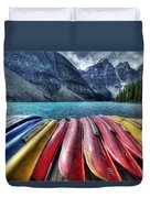 Canoes Duvet Cover