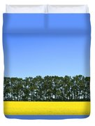 Canola Field And Trees Duvet Cover