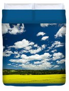 Canola Field, Brookfield, Prince Edward Duvet Cover