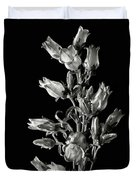 Canterbury Bells In Black And White Duvet Cover