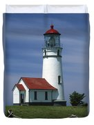 Cape Blanco Lighthouse Duvet Cover