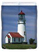 Cape Blanco Lighthouse Duvet Cover