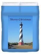 Cape Hatteras Lighthouse - Outer Banks - Christmas Card Duvet Cover
