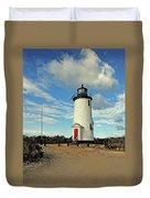 Cape Pogue Lighthouse Marthas Vineyard Duvet Cover