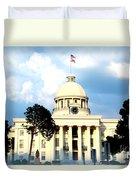 Capitol Building In Montgomery Duvet Cover