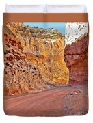 Capitol Gorge Trail At Capitol Reef Duvet Cover