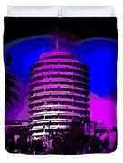 Capitol Records Building Duvet Cover