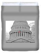 Capitol With Flag Duvet Cover