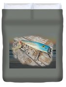 Cap'n Bill Swimmer Vintage Saltwater Fishing Lure Duvet Cover
