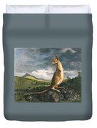 Captain Cook: Kangaroo, 1773 Duvet Cover