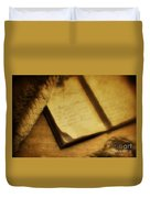 Captain's Journal Duvet Cover