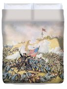 Capture Of Fort Fisher 15th January 1865 Duvet Cover
