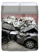 Car Crash In Cairo Duvet Cover