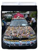 Car Of Teeth Duvet Cover