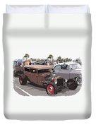 Car Show 1928 Duvet Cover