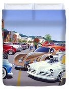 Car Show By The Lake Duvet Cover