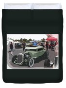 Car Show Coupe Duvet Cover by Steve McKinzie