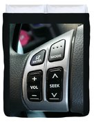 Car Steering Mounted Music Player Buttons Duvet Cover