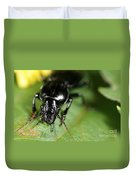 Carabid Beetle Rootworm Rredator Duvet Cover