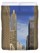 Carbide And Carbon And Wrigley Building - Two Chicago Classics Duvet Cover