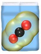 Carbon Dioxide On Blue Duvet Cover