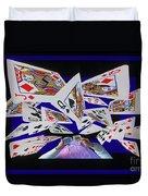 Card Tricks Duvet Cover