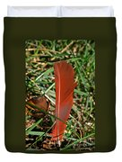 Cardinal Feather Duvet Cover