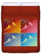 Cardinals Love 2 Pop Art Duvet Cover