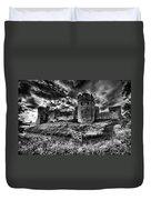 Carew Castle Pembrokeshire 4 Mono Duvet Cover