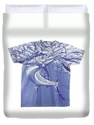 Carey Chen Mens Marlin Shirt Duvet Cover