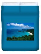Caribbean Blue Duvet Cover by Kathy Yates