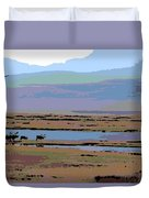 Caribou On The Move Duvet Cover