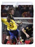 Carles Puyol Jumping Duvet Cover
