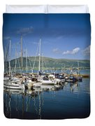 Carlingford Yacht Marina, Co Louth Duvet Cover
