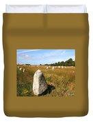 Carnac Standing Stones Duvet Cover